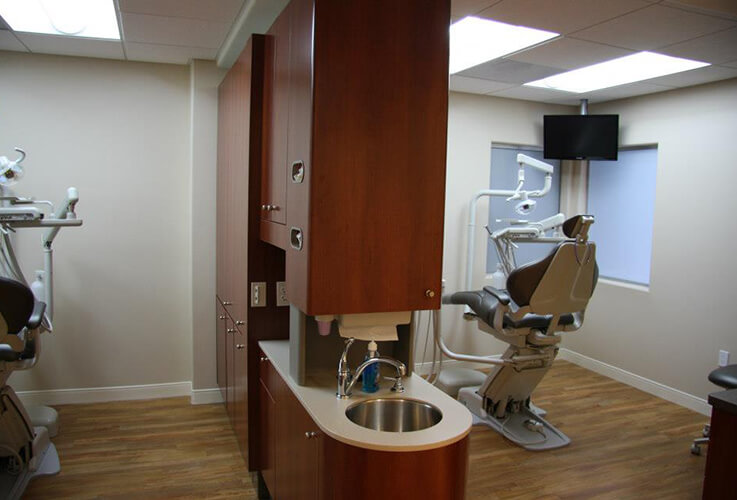 State-of-the-art dental exam rooms