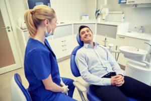 man at emergency dentist in Studio City